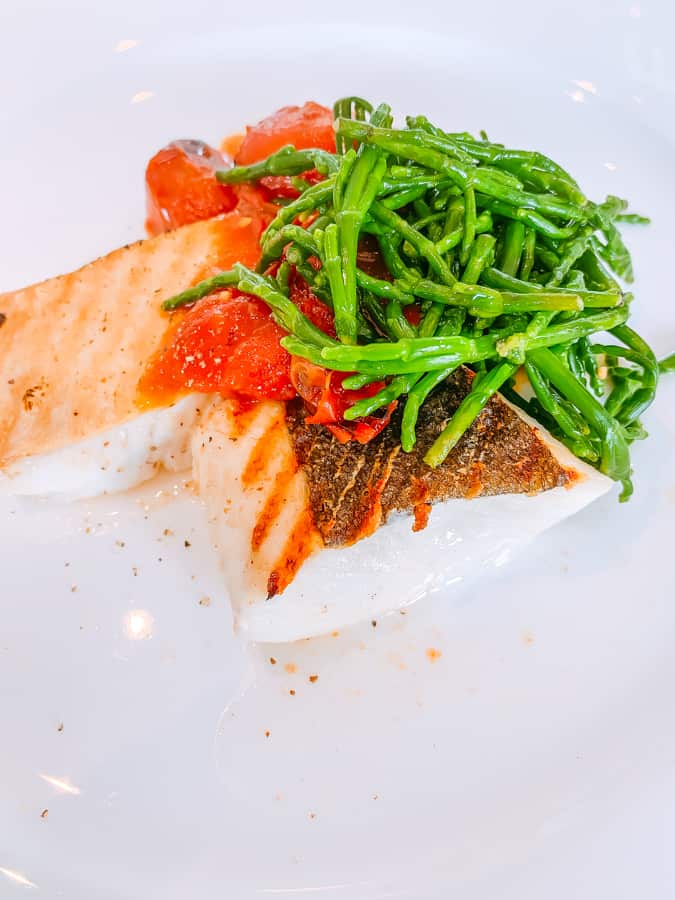 halibut tomatoes and samphire