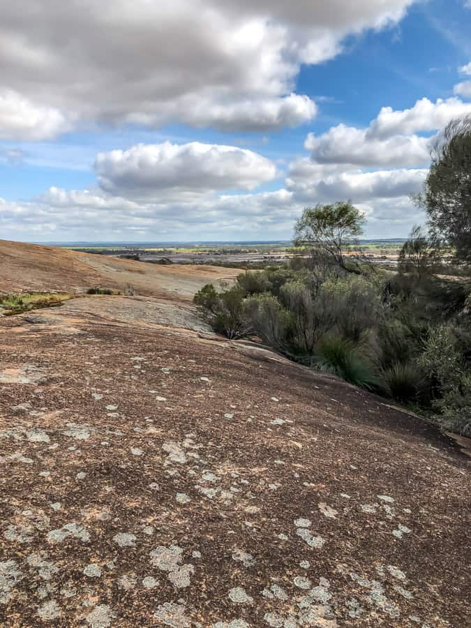 view from wave rock