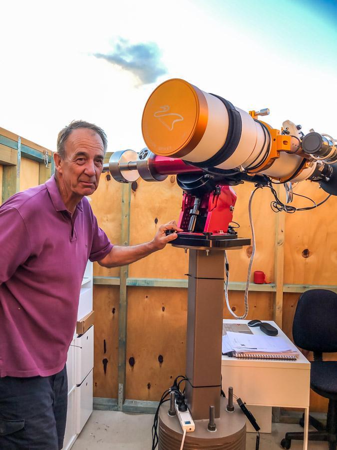 steven and his telescope