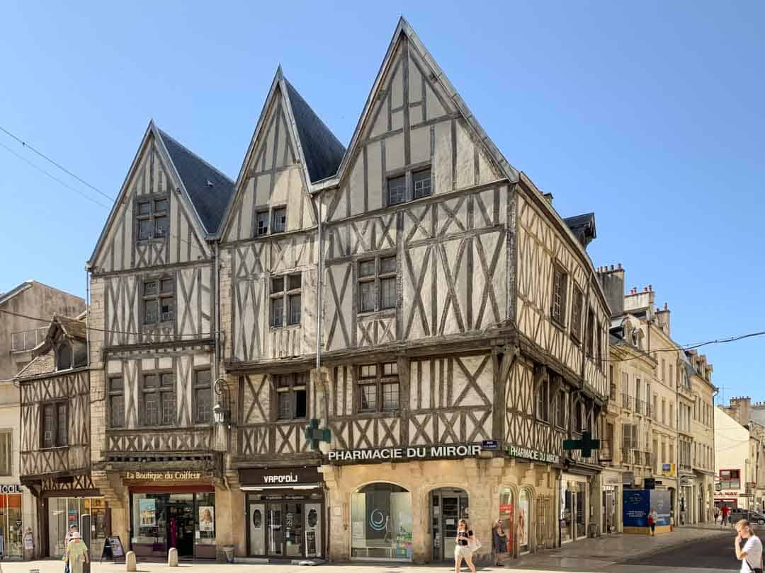 old medieval building along rue de la liberte dijon