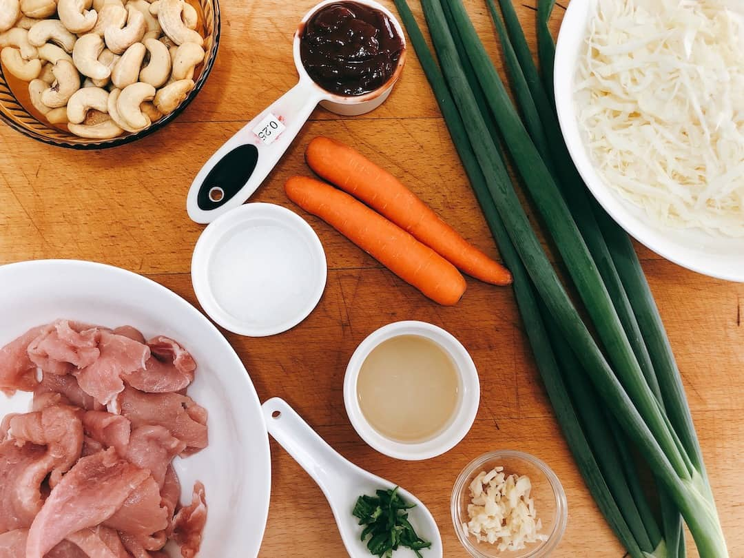 ingredients for quick chinese pork stir fry recipe