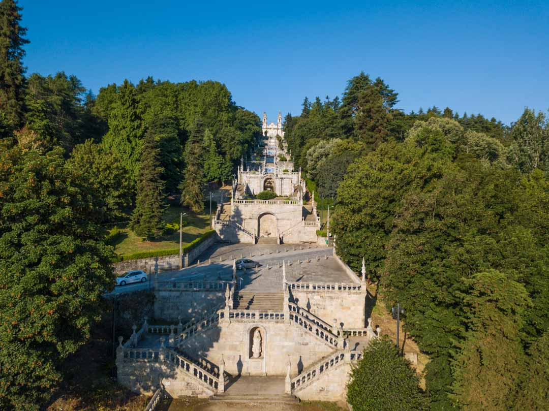 stairs leading to the sanctuary at lamego portugal
