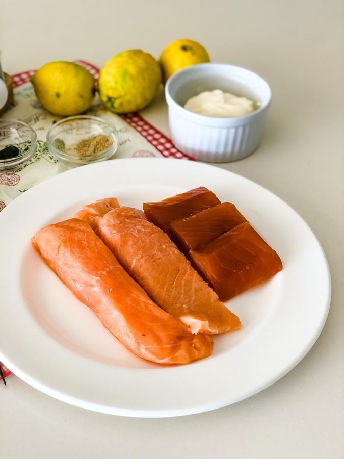 TWO TYPES OF SALMON easy salmon rillettes recipe