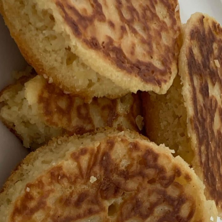 freshly made crumpets