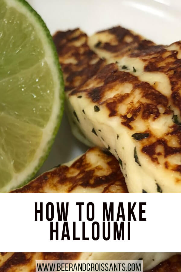 halloumi and lime