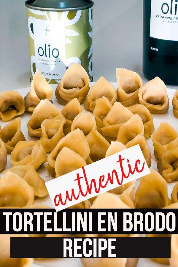 tortellini en brodo freshly made