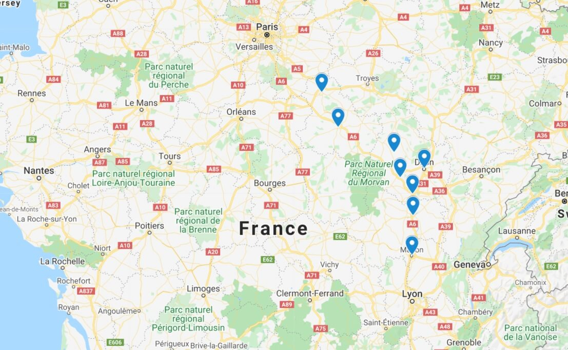 burgundy itinerary