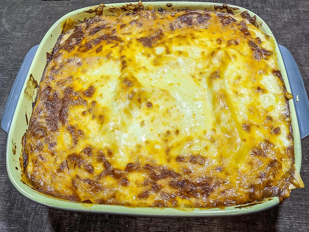 final belgian lasagne baked