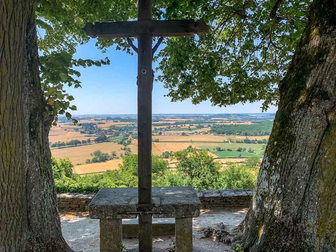 viewing point Châteauneuf-en-Auxois