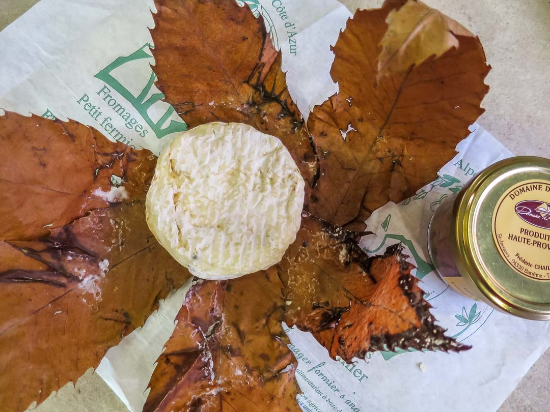 cheese wrapped in leaves