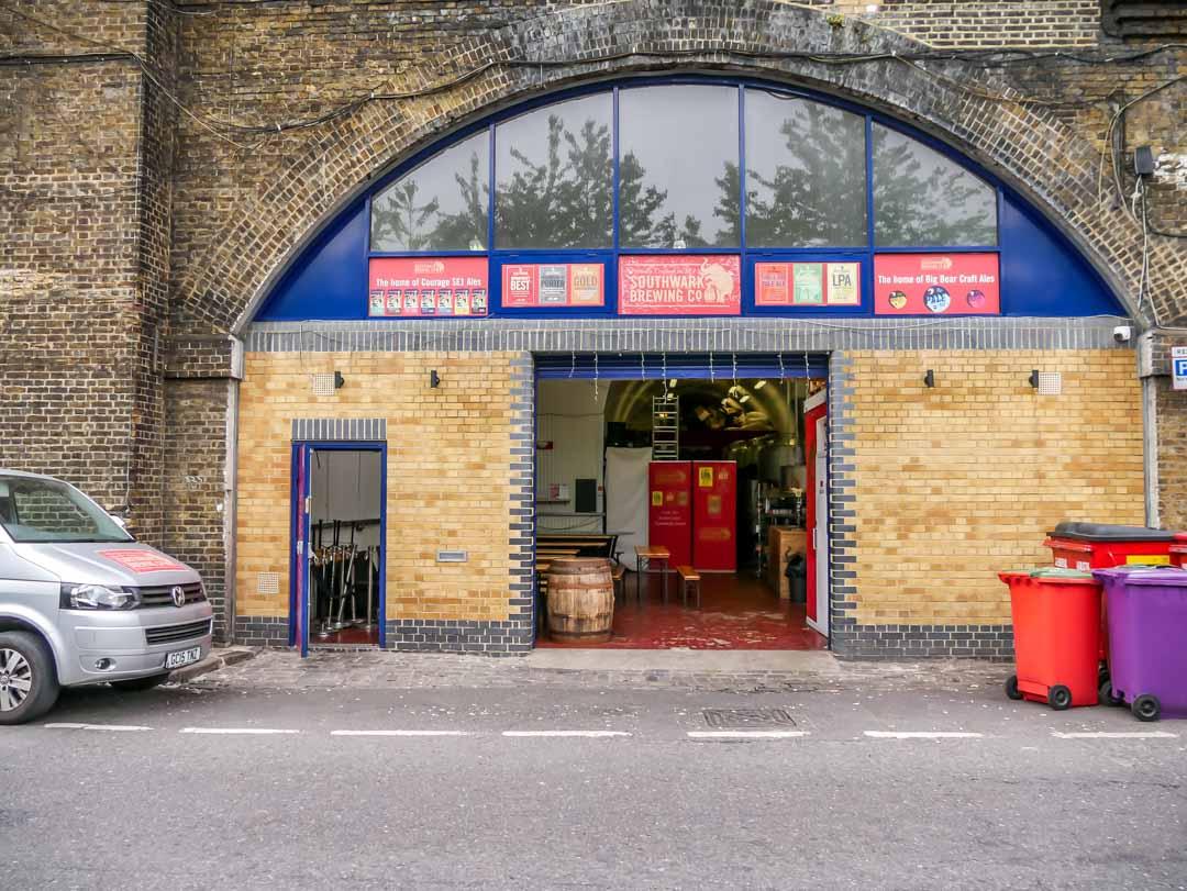 maltby street market london southwark brewing co building