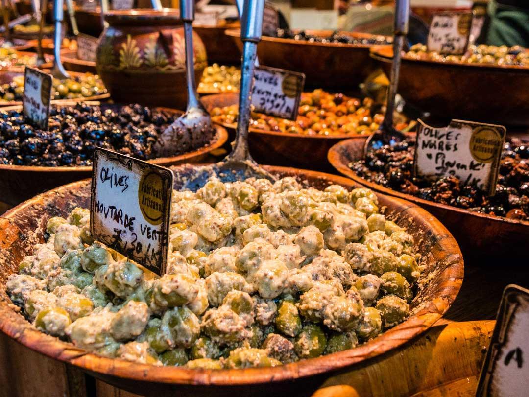 olives at markets