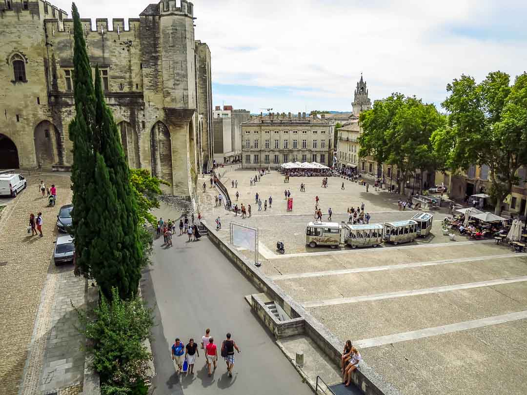 view of avignon town square