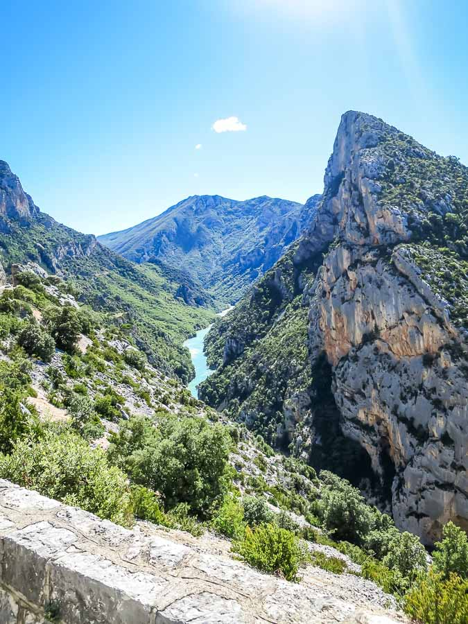 view of gorges du verdon from point sublime
