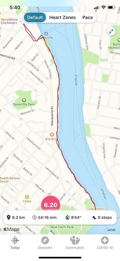 Brisbane Queensland walking routes new farm to teneriffe waterfront