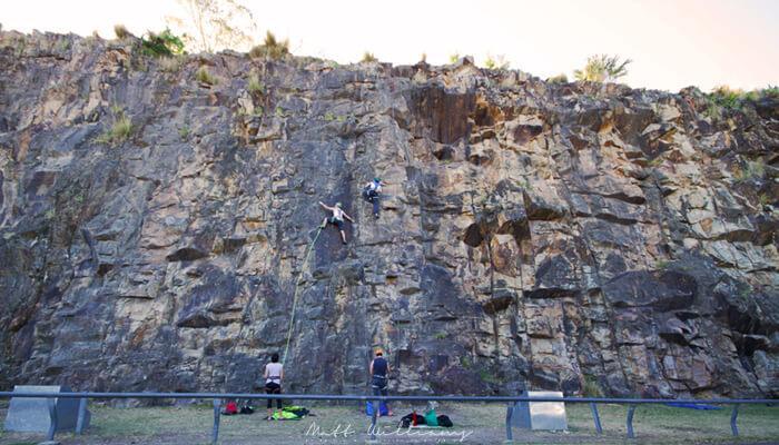 Rock climbing at Kangaroo Point Cliffs