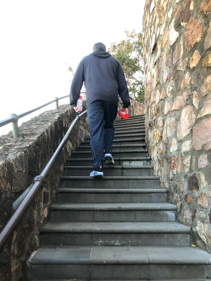 walking up the kangaroo point steps