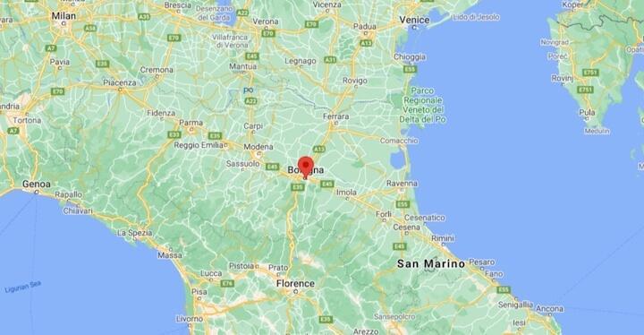 map of bologna