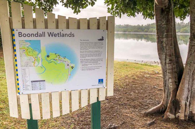 boondall wetlands sign boondall wetlands walk