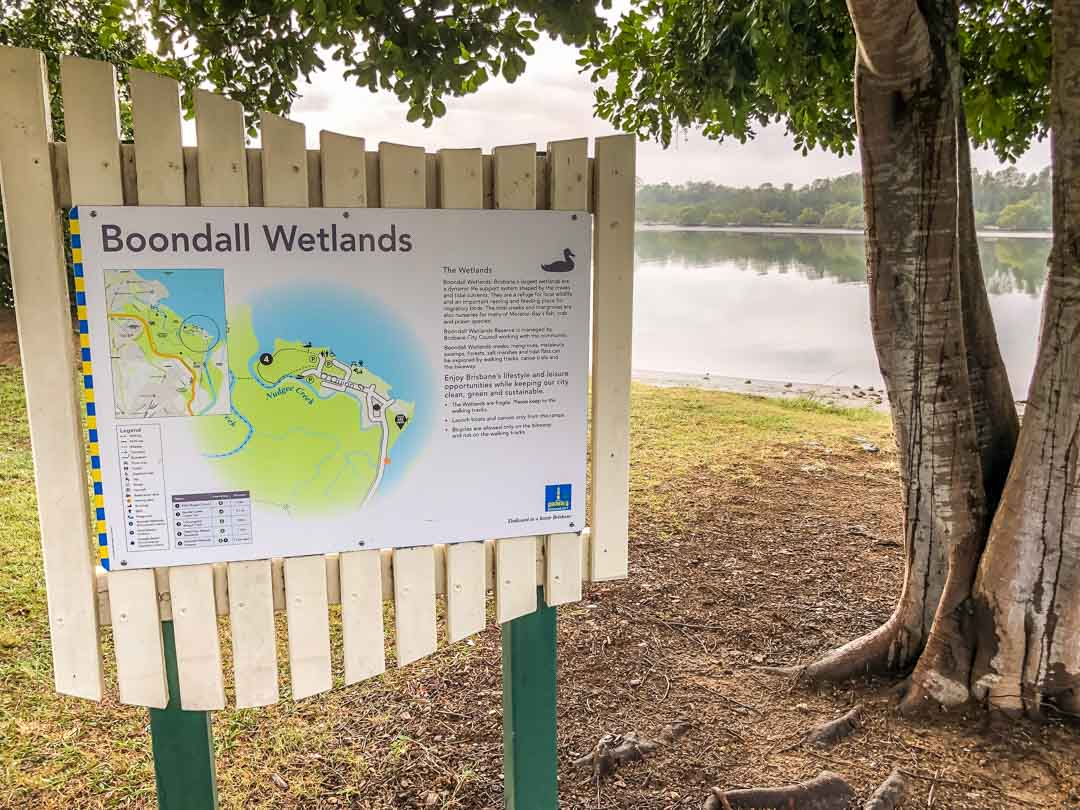 boondall wetlands sign
