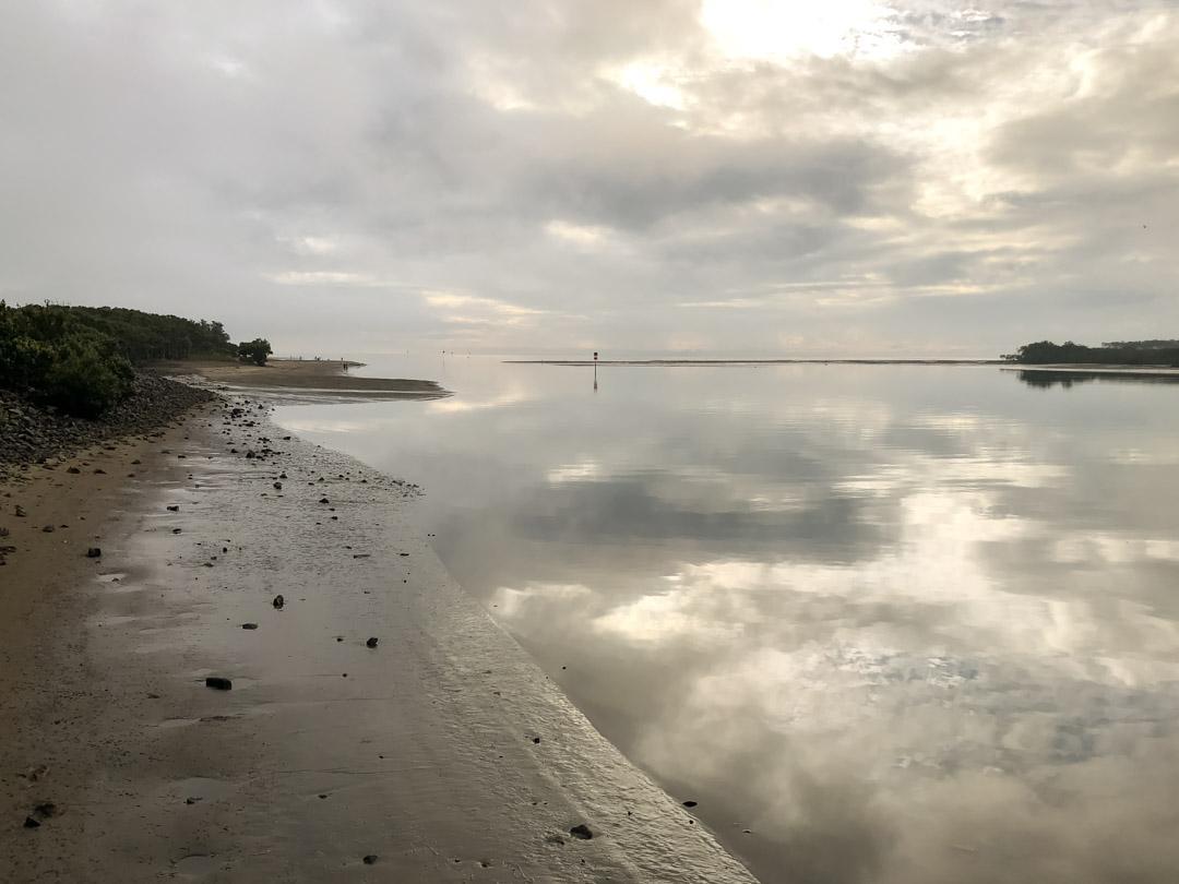 nudgee beach at sunrise
